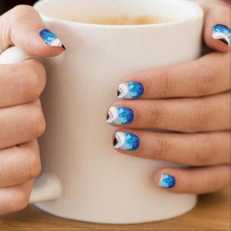 Swimming nail art nail wraps zazzle shark attack great white shark minx nail art prinsesfo Image collections