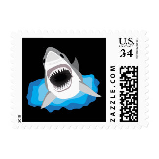 Shark Attack - Great White Shark Postage