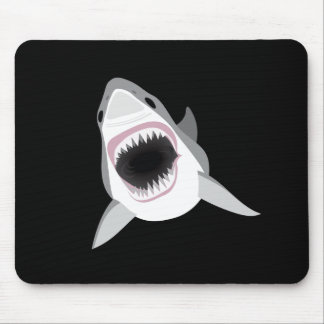 Shark Attack - Great White Shark Shows its Bite Mouse Pad