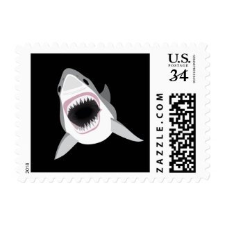 Shark Attack - Great White Shark Shows its Bite Postage