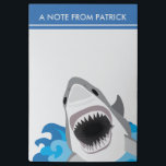 "Shark Attack - Great White Shark with Open Jaws Post-it Notes<br><div class=""desc"">Funny shark attack design with your own text at the top - this note is sure to catch their attention!</div>"