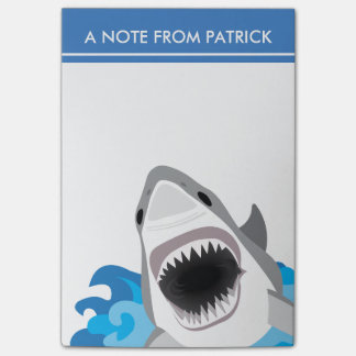 Shark Attack - Great White Shark with Open Jaws Post-it Notes