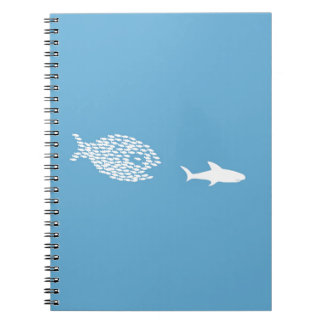 Shark attack spiral note books