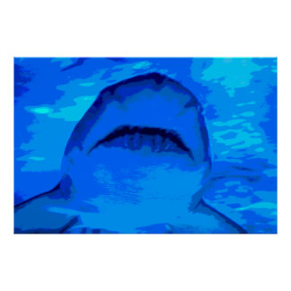 Shark attack print