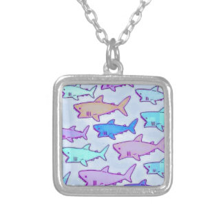 Shark Attack Products Silver Plated Necklace