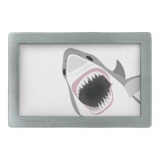 Shark Attack Rectangular Belt Buckle