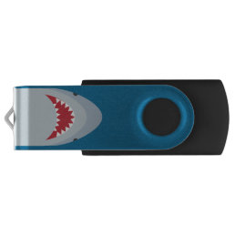 Shark Attack Silver USB Drive