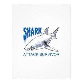 SHARK ATTACK SURVIVOR LETTERHEAD DESIGN