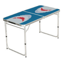 Shark Attack Tailgate Pong Table