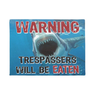 Shark Attack - Trespassers Will Be Eaten Doormat