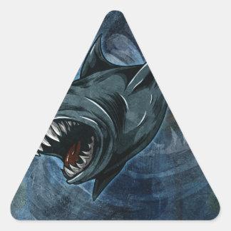 Shark Attack! Triangle Sticker