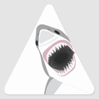 Shark Attack Triangle Sticker