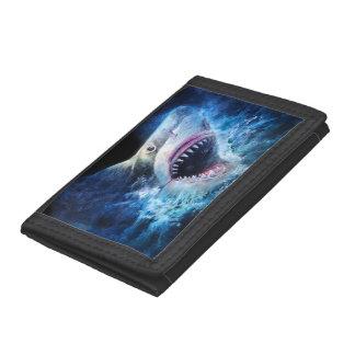 Shark Attack TriFold Nylon Wallet
