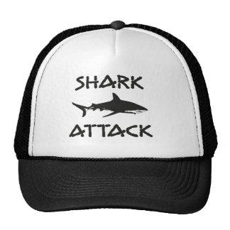 shark attack trucker hat