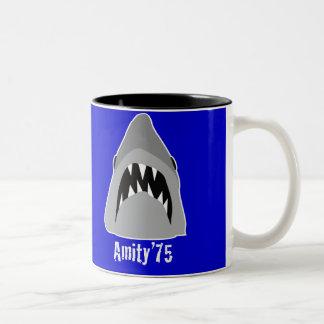 shark attack Two-Tone coffee mug