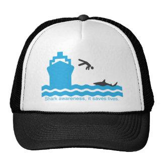 shark awareness trucker hat