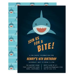 Shark party invitations announcements zazzle shark bait birthday party invitation filmwisefo