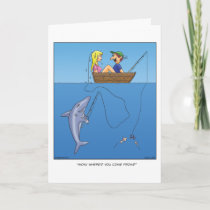 Shark Bait Greeting Card