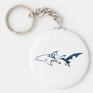 Shark Basic Round Button Keychain