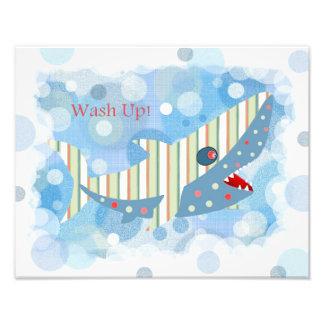 Shark Bathroom Print Photo Print