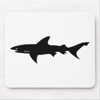 Shark  Beware of Sharks Drawing Mouse Pad