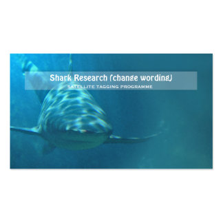 Shark biology marine research business card templates