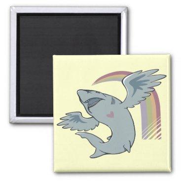 Valentines Themed Shark Bird Magnet