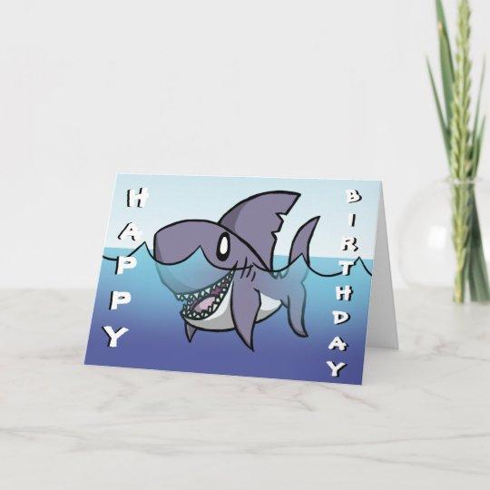 Shark Birthday Card Zazzle