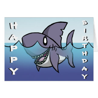 shark cards  zazzle, Birthday card