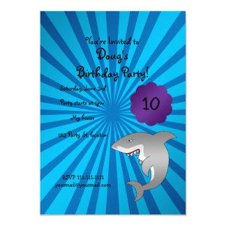 "Shark birthday invitation 5"" x 7"" invitation card"