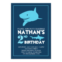 Shark Birthday Invitation for Boy