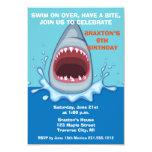 Shark Birthday Party Invitaitons 3.5x5 Paper Invitation Card