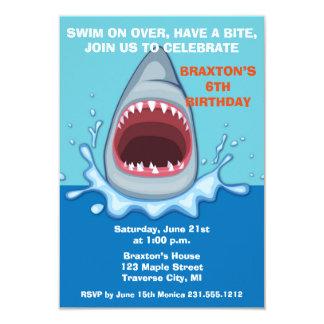Shark Birthday Party Invitaitons Card