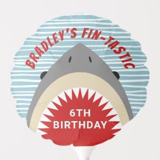 Shark Bite Any Age Birthday Party Balloon