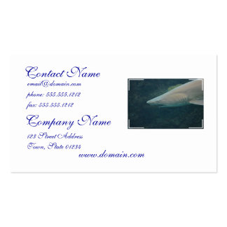 Shark Bite Double-Sided Standard Business Cards (Pack Of 100)