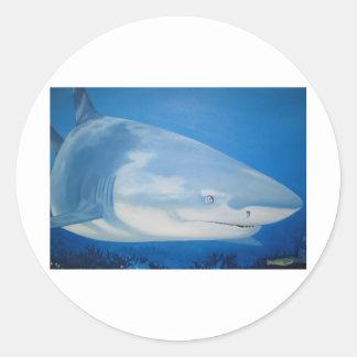 Shark  Bite Classic Round Sticker