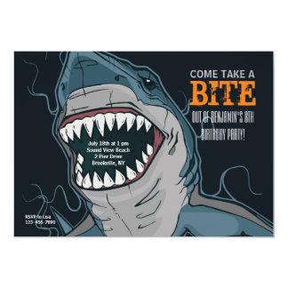 Shark Bite Invitation