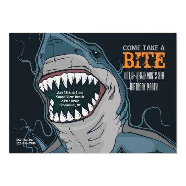 Valentines Themed Shark Bite Invitation