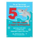 Shark Bite Invite- 5th Birthday Party