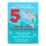 Shark Bite Invite- 5th Birthday Party Card