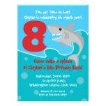 Shark Bite Invite- 8th Birthday Party Personalized Invitations