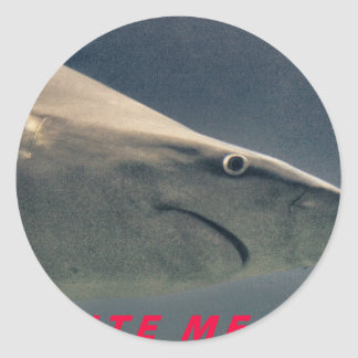 Shark Bite Me !!!! Classic Round Sticker