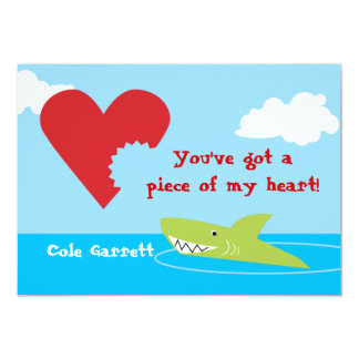 Shark Bite Valentine Card