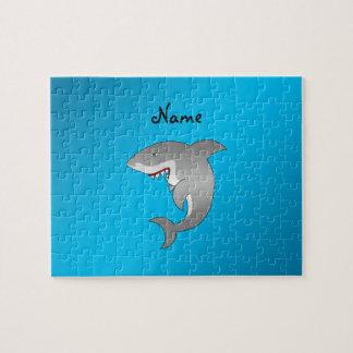 Shark blue background jigsaw puzzle