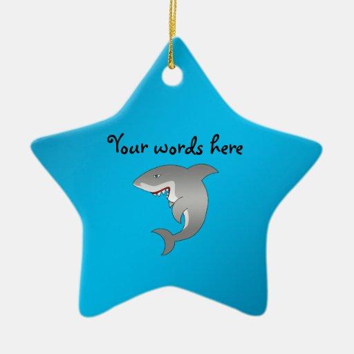 Shark blue color christmas tree ornament