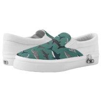 Shark Boys Green Ocean Animals / Andrea Lauren Slip-On Sneakers