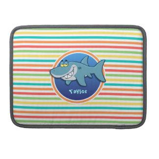Shark Bright Rainbow Stripes MacBook Pro Sleeve