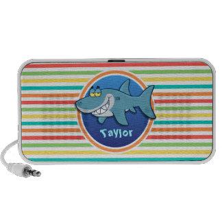Shark Bright Rainbow Stripes iPod Speakers