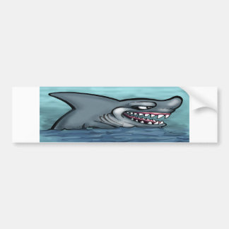 Shark Car Bumper Sticker