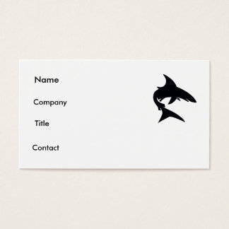 shark card. business card